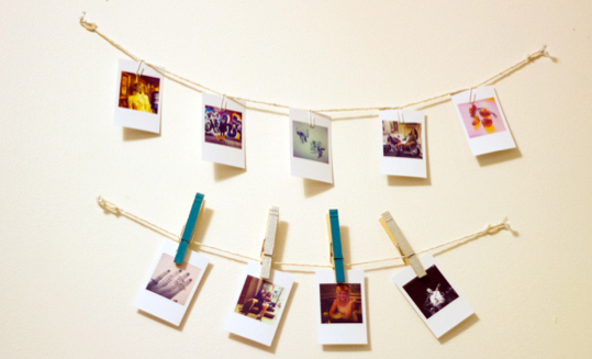 Wire and Clip Photograph Hanger